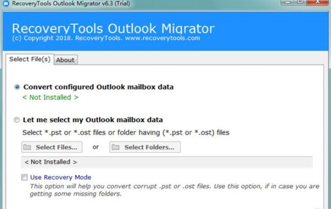 RecoveryTools Outlook Migrator(PST轉換軟件) V6.30