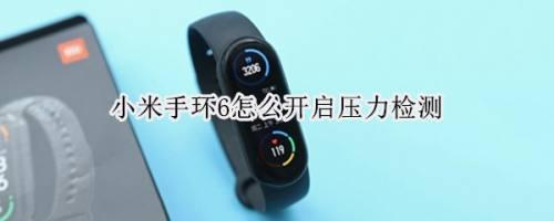 小米手環6怎么進行壓力測試