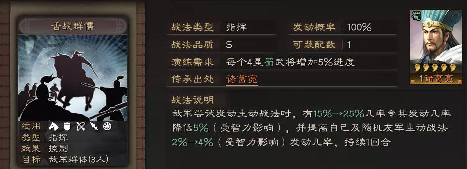 三國志戰略版舌戰群儒戰法怎么樣