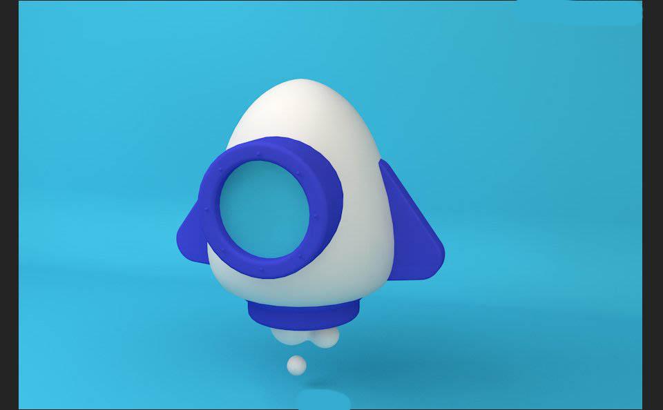 如何用C4D制作火箭3D建模