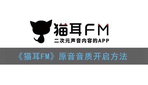 貓耳FM原音音質怎么開啟